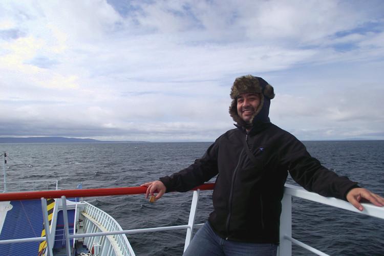 Cruzando el estrecho de Magallanes por primera vez