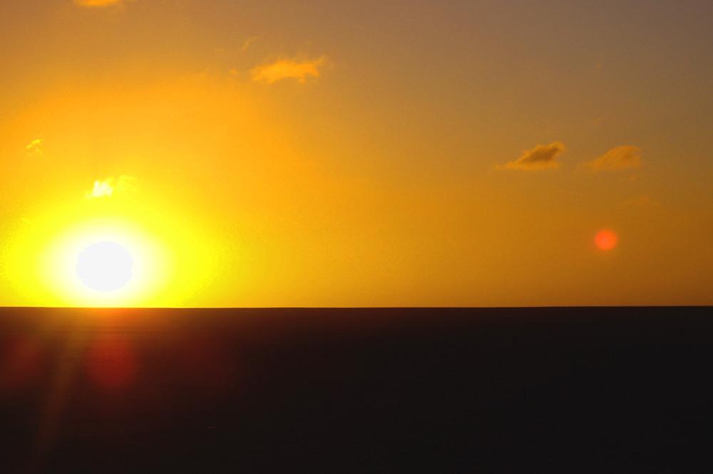 Atardecer tras las dunas de Atacama