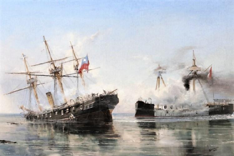 Combate naval de Iquique   Huellas.CL